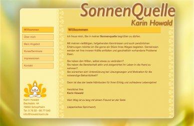 Redaxo CMS-Webseite - Karin Howald- Sonnenquelle in Schopfheim